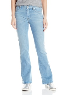 """7 For All Mankind Women's Tailorless """"A"""" Pocket Flare Jean in"""