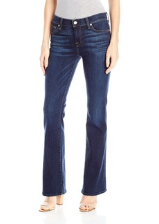 7 For All Mankind Women's Petite Size Tailorless Bootcut Jean