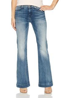 "7 For All Mankind Women's Tailorless Dojo Trouser Leg Jean with Tonal 7"""
