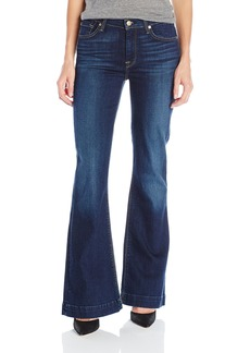 7 For All Mankind Women's Petite Size Tailorless Ginger Trouser Jean  25