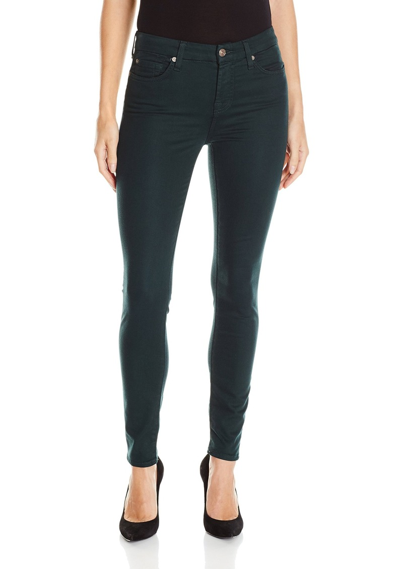 7 For All Mankind Women's The Ankle Skinny Jean in Riche Sateen  28