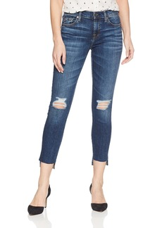 7 For All Mankind Women's The Ankle Skinny Jean With Destroy and Step Hem