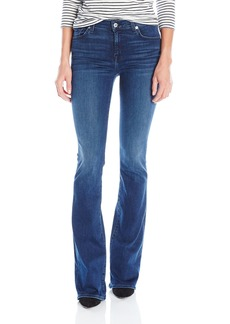 7 For All Mankind Women's the Bootcut Jean in Slim Sim Illusion Luxe-Luminous
