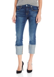 7 For All Mankind Women's the Fashion Boyfriend Jean with Wide Raw Cuff