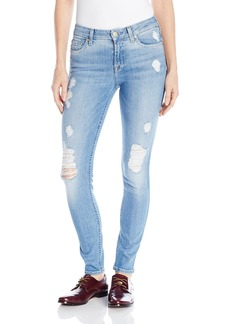 7 For All Mankind Women's the Skinny Jean with Squiggle and Destroy