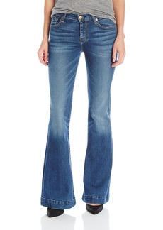 7 For All Mankind Women's Petite Size the Tailorless Dojo Trouser Jean (Short Inseam)  27