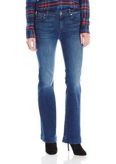 7 For All Mankind Women's Petite Size the Tailorless Dojo Trouser Jean Short Inseam Sim Illusion Luxe-Luminous 24