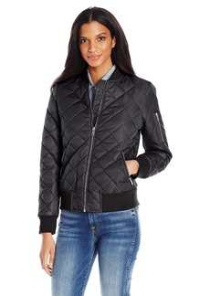 7 For All Mankind Women's Water Repellent Nylon Bomber Jacket  L