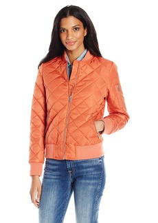 7 For All Mankind Women's Water Repellent Nylon Bomber Jacket  M