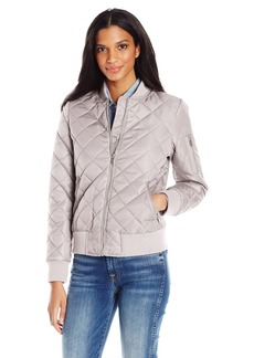 7 For All Mankind Women's Water Repellent Nylon Bomber Jacket  S
