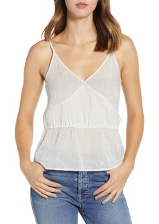 7 For All Mankind® Wrap Front Silk Blend Camisole