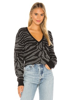 7 For All Mankind Zebra Lurex Sweater