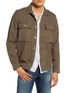 7 For All Mankind® Zigzag Jacquard Military Shirt Jacket