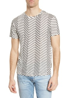 7 For All Mankind® Zigzag Print Linen T-Shirt