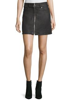 Zip-Front A-line Mini Skirt