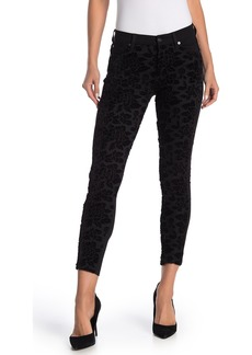 7 For All Mankind Flocked Floral Skinny Jeans