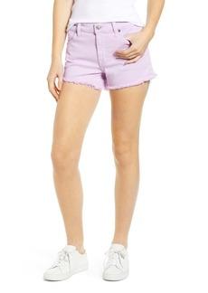 7 For All Mankind(R) High Waist Cutoff Denim Shorts