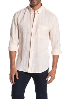 7 For All Mankind Trim Fit Linen Oxford Shirt