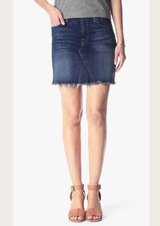 A line Denim Skirt with Shadow Pockets
