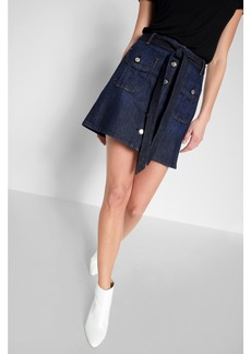 A Line Mini skirt in Deep Blue
