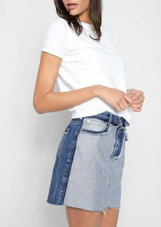 7 For All Mankind A Line Mini Skirt in Inside Out