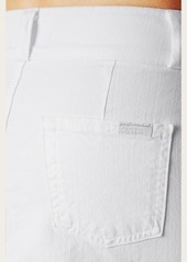 7 For All Mankind A-line Skirt With Exposed Zips in White Fashion