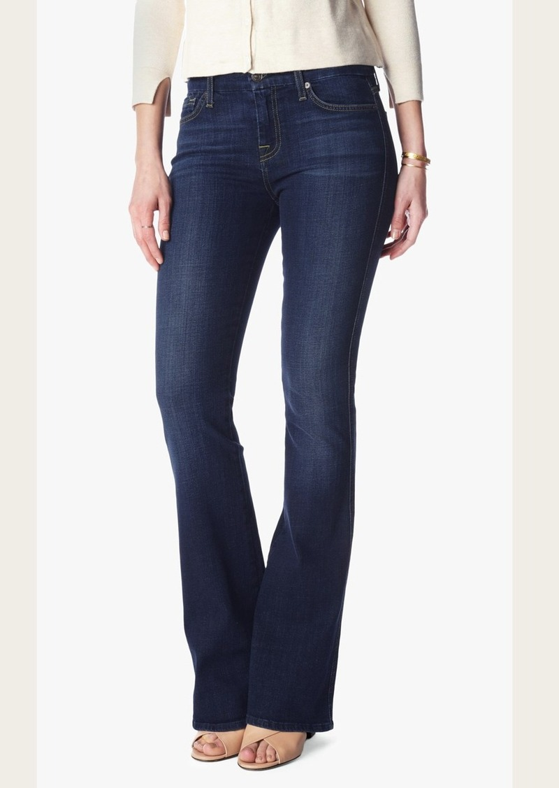 """7 For All Mankind """"A"""" Pocket Flare in Nouveau New York Dark"""