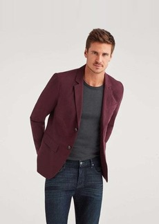 7 For All Mankind Ace Modern Blazer in Burgundy