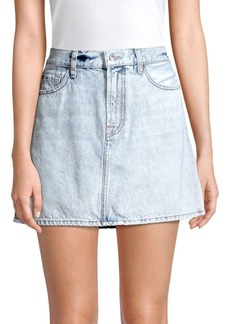 7 For All Mankind Acid Wash Denim Mini Skirt