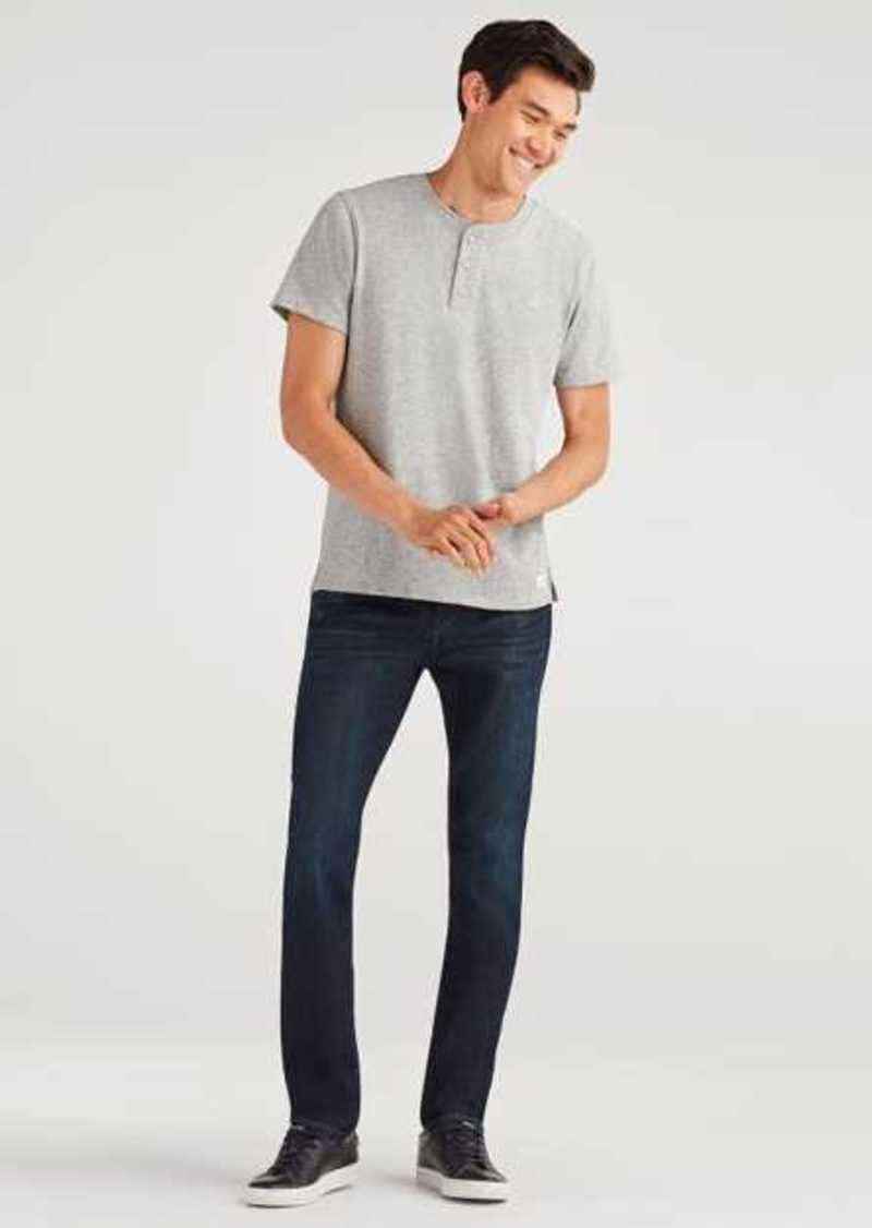 7 For All Mankind Airweft Denim Adrien Slim Tapered with Clean Pocket in Perennial