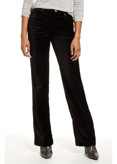 7 For All Mankind Alexa High Waist Velvet Trouser Pants