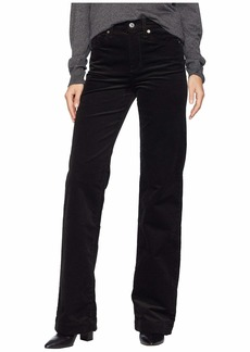 7 For All Mankind Alexa in Black Luxe Cord