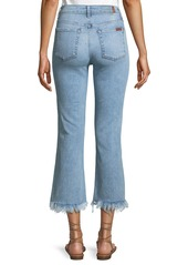 7 For All Mankind Ali Fringed Flare-Cuff Jeans