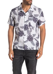 7 For All Mankind Aloha Hawaiian Print Short Sleeve Linen Shirt