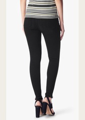 7 For All Mankind Ankle Skinny in Black Sands Broken Twill