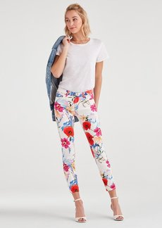 7 For All Mankind Ankle Skinny in Seaside Poppies