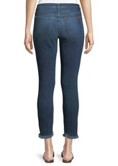 7 For All Mankind Ankle Skinny Jeans with Chewed Hem