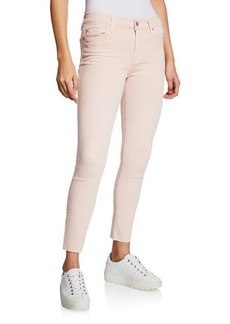 7 For All Mankind Ankle Skinny Jeans with Cutoff Hem
