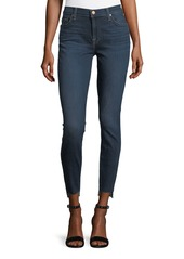7 For All Mankind Ankle-Skinny Jeans with Split Released Hem