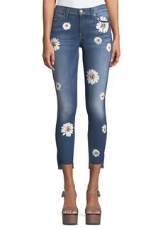 7 For All Mankind Ankle Skinny Jeans with Stem Hem