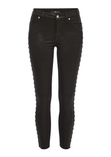 7 For All Mankind Ankle Skinny Jeans with Studs