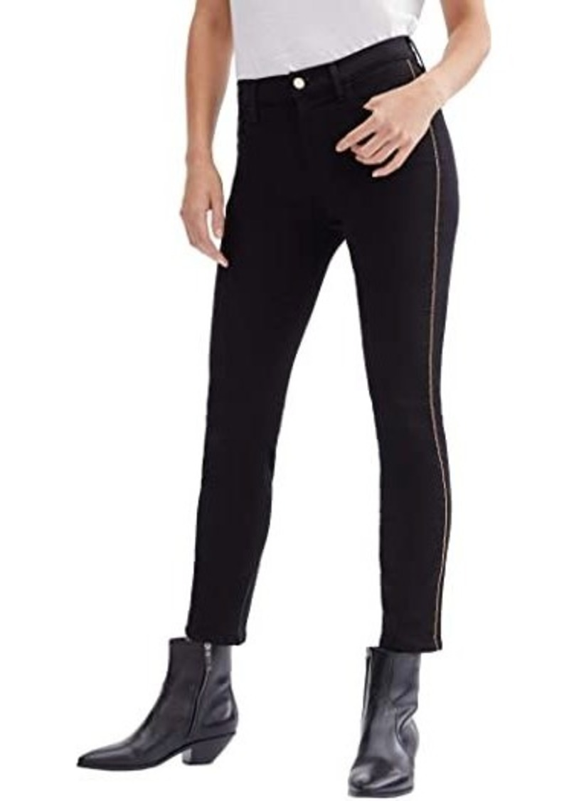 7 For All Mankind Ankle Skinny w/ Chain in Slim Illusion Black