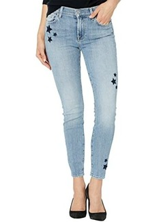 7 For All Mankind Ankle Skinny w/ Stars in Trio