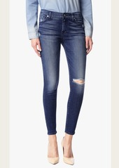 7 For All Mankind Ankle Skinny with Destroy in Lake Blue
