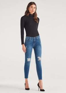 7 For All Mankind Ankle Skinny with Destroy in Authentic Blue Malmo