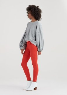 7 For All Mankind Ankle Skinny with Released Hem in Poppy