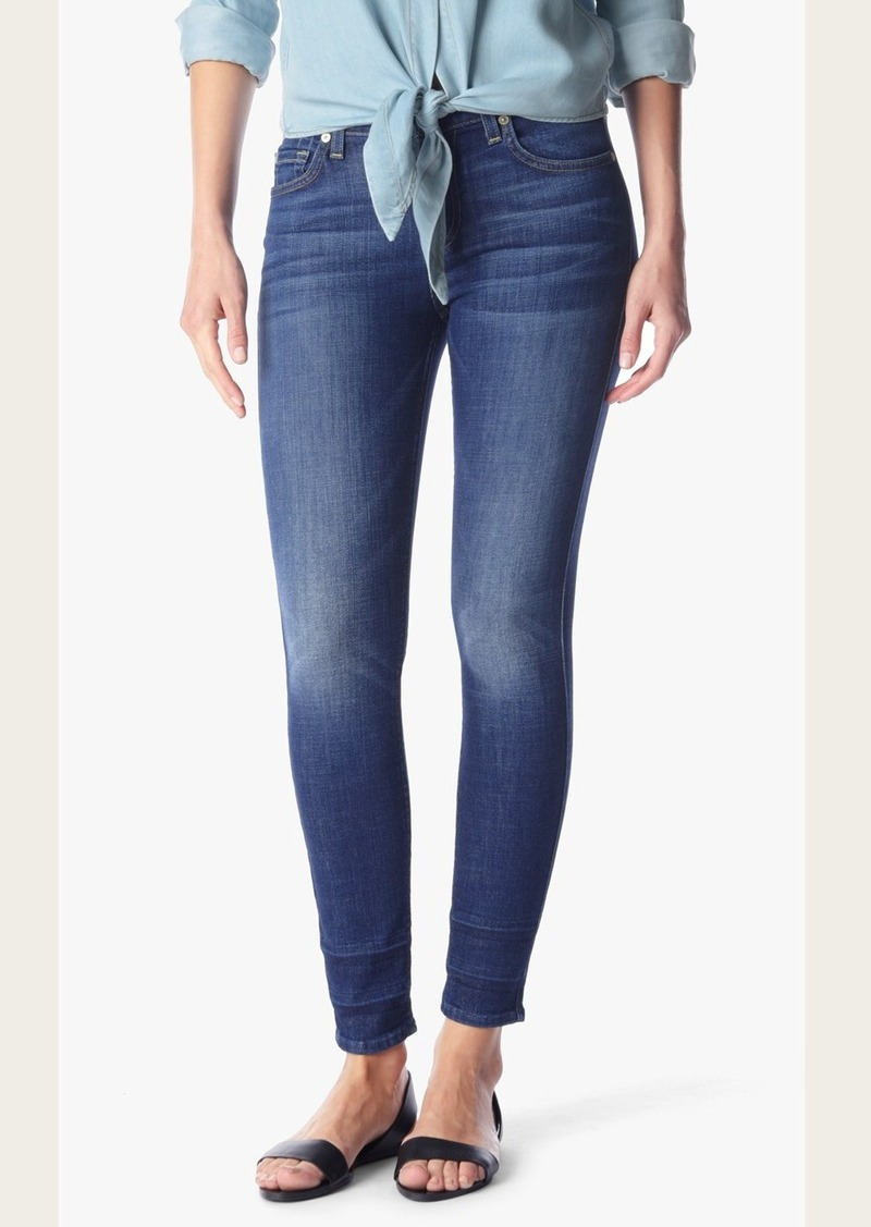 7 For All Mankind Ankle Skinny With Shadow Hem in Castle Rhodes