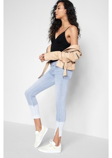 Ankle Skinny with Side Slit in Ocean Breeze