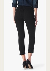 7 For All Mankind Ankle Straight in Black Sands Broken Twill