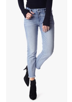 7 For All Mankind Ankle Straight With Distress and Raw Hem in Bright Bristol